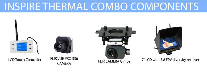 Add-On Thermal Combo With FLIR VUE PRO 336 [Fully Gimballed]