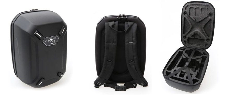 Phantom 4 Hardshell Backpack, made for the Phantom 4, carries 4 batteries,mains charger. Very durable and water resistant and yet Small enough for Carry on luggage