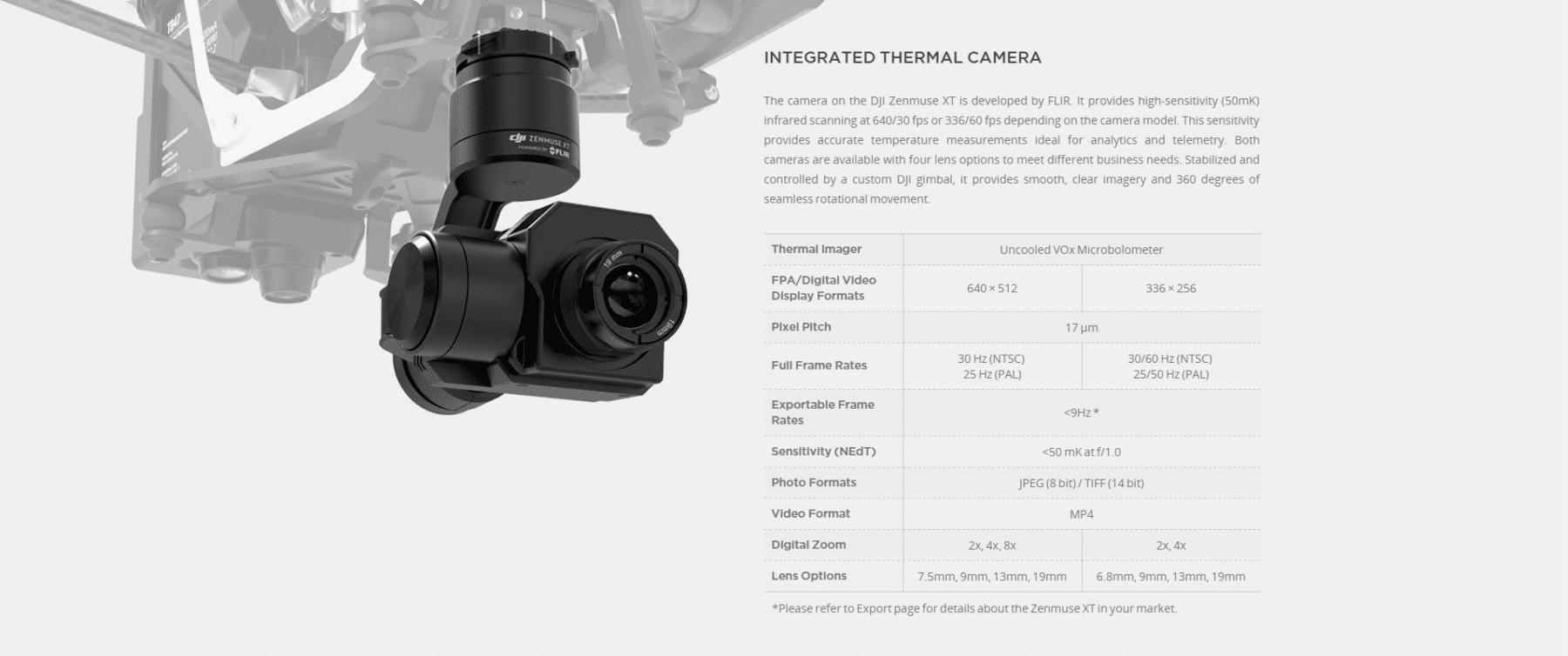 Zenmuse XT Infrared Camera