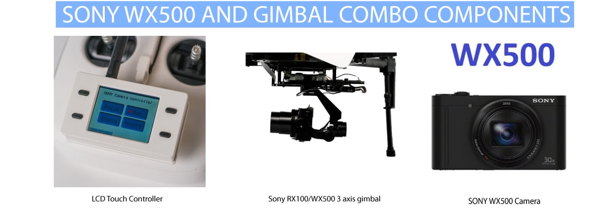 Gimbal Setup For Inspire/Matrice to fit Sony WX500 Camera* [*not included]