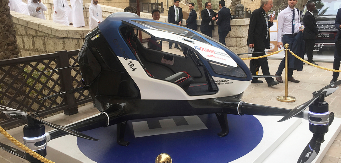 Dubai is planning to launch a fleet of taxi drones in July 2017