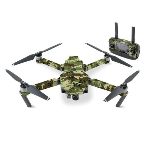 Mavic Pro Skin Digital Woodland Camo